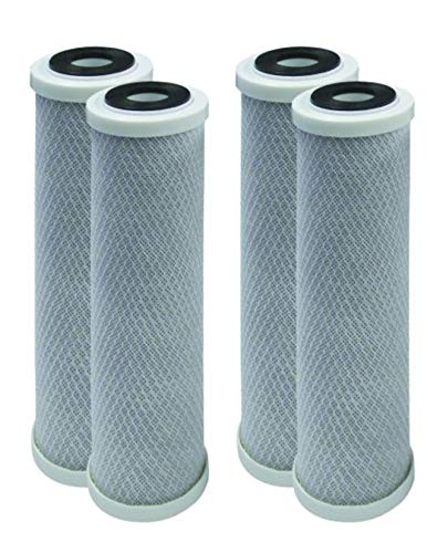 4-Pack Compatible for Watts MAXETW-975 10-Inch 5-Micron for Multi-Cartridge Whole House Water Filter with Solid Block Activated Carbon