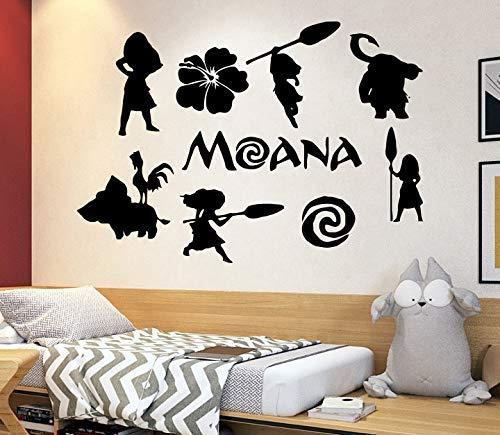 Disney Wall Decal Moana Wall Decal Decor Disney Movie Quote Decal Girls Room Decor Moana Gift z88