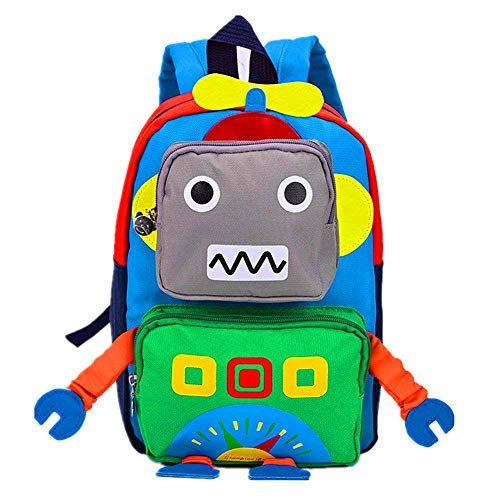 TeMan Cartoon Backpack Leisure Backpack Robot(Green)