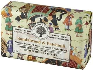 Wavertree & London Sandalwood & Patchouli luxury soap (1 bar) by Simple Scents Australia