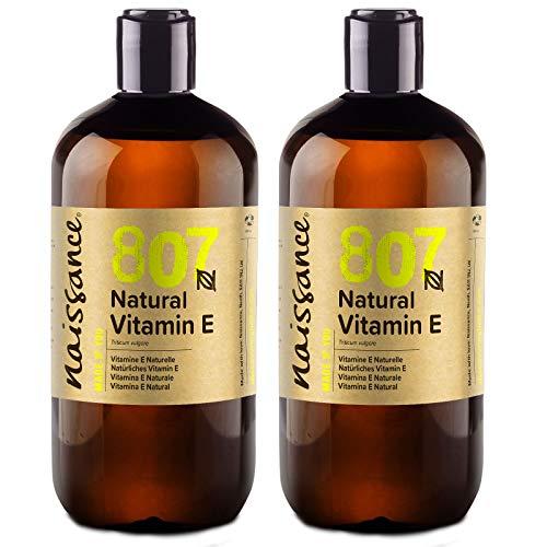 Naissance Natürliches Vitamin E Öl (Nr. 807) 1 Liter (2x500ml) 100% natürlich