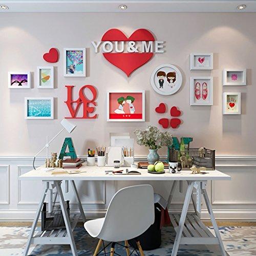Cadre de Mur Photo Chambre Photo Ensembles, Salon Photo Mur créatif Combinaison canapé Fond de 10 Design à la Mode (Couleur : B, Taille : 10frames/174 * 74CM)