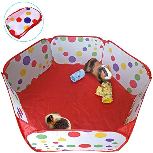 Oncpcare Pet Small Animals Playpen, Hiking Small Animals Fence Guinea Pig Cage Ferret Playpen Travel Rabbit Play Area Tent Indoor and Outdoor for Chinchilla, Rabbit, Squirrel, Ratsss.