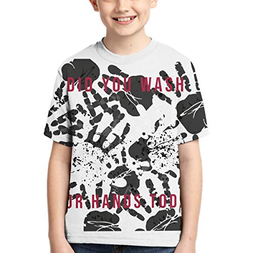 Coro-navi-rus Boys T Shirts Kids Short Sleeve 10D Print for Teen Girls T Shirt Youth Novelty Summer XL
