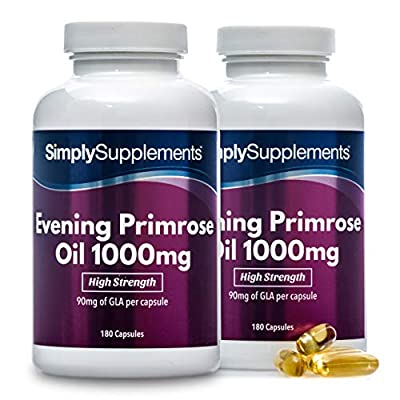 Evening Primrose Oil 1000mg   360 Capsules in Total   May Support Heart Health and Circulation   100% Money Back Guarantee   Manufactured in the UK (Packaging May Vary)