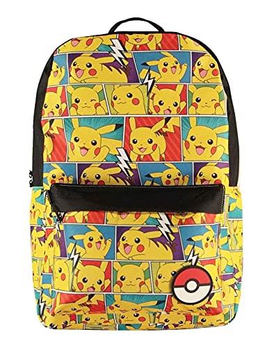 Difuzed Mochila para hombre BP618761POK Pikachu con estampado de cómics, color amarillo