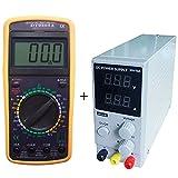 DOBO Alimentatore SLIM + tester multimetro / Alimentatore Stabilizzato da banco Trasformatore corrente professionale SLIM regolabile 30V e 10A + Multimetro Digitale DISPLAY GIGANTE