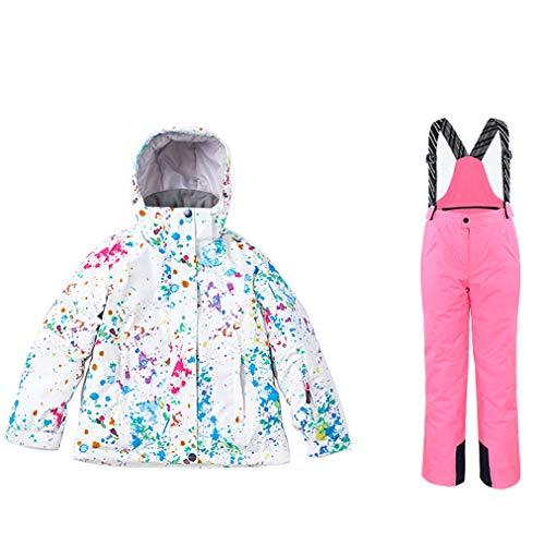 HSYD Ski Suit 2 stuks Set voor meisjes, snowboardbroek/overtrek, waterdicht, winddicht, Ski, Outfit Snowsuit