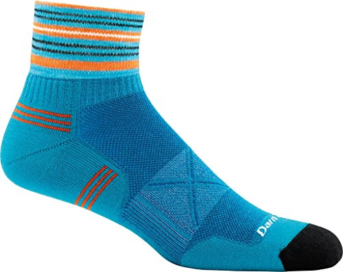 DARN TOUGH (Style 1007) Men's Vertex Ultra Lightweight Run Sock - Teal, Medium