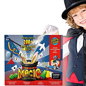 Mega Magic Kit for Kids Perform Hundreds Today s Most Exciting Tricks Magic Set with Instructional DVD