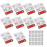 Roudaru 10pcs Iman Puerta Armario Adhesivo, Cierre Magnetico Pestillo Ultra-fino Imán Cierre para Puertas de Cocina Gabinetes Cajón Clausura Mueble con Tornillos