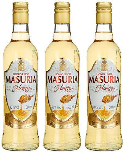 Mazurskie Miody Masuria Honig Wodka Liköre (3 x 0.5 l)