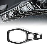CheroCar for Camaro Steering Wheel Kits Cover Carbon Fiber Items for Chevrolet Camaro 2017-2020, Interior Decoration Accessories (Carbon Fiber 1)