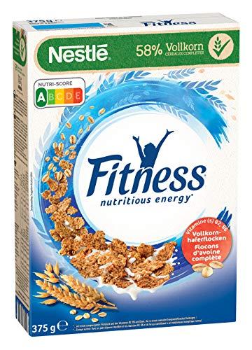 Nestlé Fitness, Frühstücks-Flakes aus 58% Vollkorn, Frühstücks-Flakes mit weniger Zucker, mit Vitamin B2, B6, Calcium & Eisen, 1er Pack (1 x 375g)