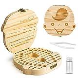 Denti salva box per bambini e bambina (italiano), Scatola porta dentini da latte,Bambini in legno ricordo regalo, Accumulazione dei denti (Ragazzo)