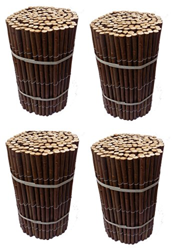 Ruddings Wood Pack of 4 x Garden Flexible Willow Lawn Edging Roll - Border Lawn Edge