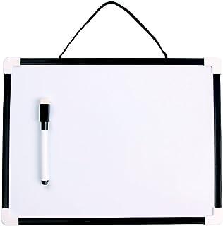 VIZ-PRO Children Drawing Board/Kids Writing Whiteboard, Black Plastic Frame - 12 x 8 Inches