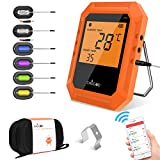 YRYP Meat Thermometer BBQ Thermometer Cooking Food Wireless Bluetooth Digital Thermometer- 6 Stainless