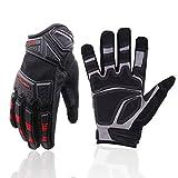 HANDLANDY Heavy Duty Work Gloves Men, Touchscreen TPR Impact Reducing Work Gloves, Non-Slip Breathable Mechanics Gloves (Extra Large)