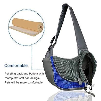 BIGWING Style Pet Sling Carrier for Dog Cat Pets Travel Shoulder Bags (L, Blue) 8