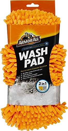 Armor All Microfiber Car Wash Pad, Cleaner for Bugs or Dirt, for Cars & Truck & Motorcycle, Noodle Tech, 17617