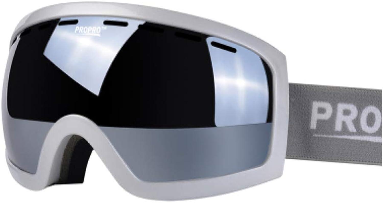 YSH Skibrille Doppelscheibe Doppelscheibe Doppelscheibe Unbehindert Und Klare Sicht Anti-UV Anti-Fog, Winddicht, Unisex-Snowboardbrille Für Outdoor-Bergsteigen,F B07L4CCLRP  Qualität und Quantität garantiert 4d2d85