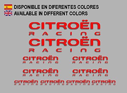 Ecoshirt KZ-0DV1-JIIG Pegatinas Citroen F210 Stickers Aufkleber Decals Adesivi Coche Rallye Racing WRC, Rojo