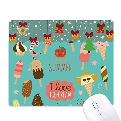 Watermeloen Apple Sweet Ice Cream Mouse Pad Game Kantoor Mat Kerstmis Rubber Pad