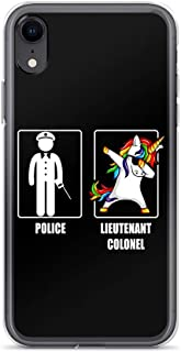 iPhone XR Pure Case Cover Police Lieutenant Colonel Unicorn