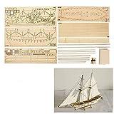 KKmoon kit para Bricolaje Montar Ensamblar,Modelo Velero,Modelo de Escala de Barco de Vela para Decoración,Madera,Juguetes Regalos para Niños Adultos