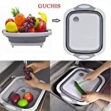 GUCHIS Kitchen Chopping Blocks Tool Multifunctional Foldable Cutting Board Kitchen Silicone Cutting Boards