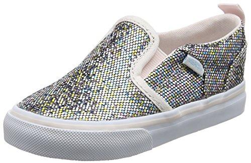 Vans TD Asher V Z, Scarpe Primi Passi Bambina, Multicolore (Glitter), 23.5 EU