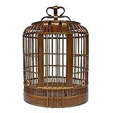 YCDJCS La Jaula de pájaros Hecho a Mano de bambú tordo Grande Jaula de pájaro portátil Colgantes Suministros diseño del pájaro Fuera de la Jaula for Mascotas Gallineros y jaulas