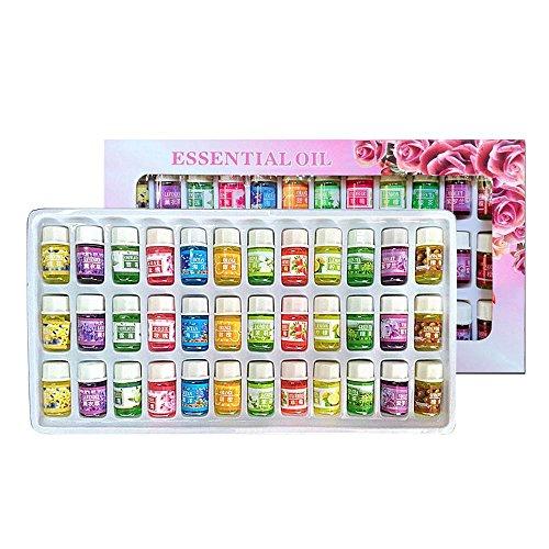 Pawaca - Set di oli essenziali, 36 x 3 ml, 100% puro e terapeutico, olio essenziale per aromaterapia, regalo per yoga, sollievo dallo stress, purificazione dell'aria quotidiana