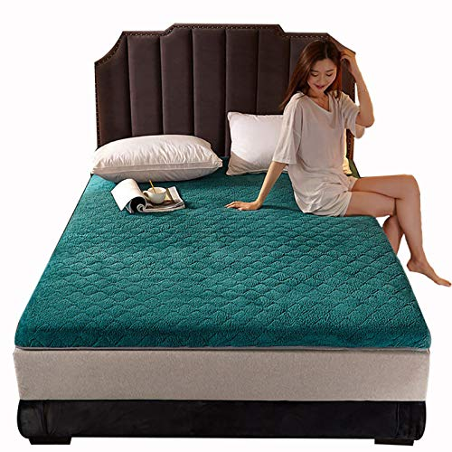 ZLBIN Futon Mattress,Floor Tatami Keep Warm In Winter Mattresses Student Dormitory Foldable Mats King Queen Twin Full,Green-120CM×200CM