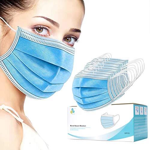 Medizinische Mundschutz Masken Mund-Nasenschutz 50X EU Norm EN14683 Typ IIR OP Masken 3-Lagig einweg