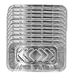 OMMO LEBEINDR Papel De Aluminio Bandeja De Goteo, Portátil Desechable Papel De Aluminio Recipientes para Alimentos Bandejas Juego De Cocina Accesorios De Cocina para Hornear 10pcs