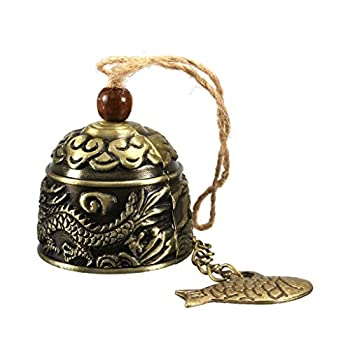 HiMo Vintage Dragon Fengshui Bell Toy Good Luck Bless for Home Garden Hanging Windchime Blessing Decoration Gift  Dragon