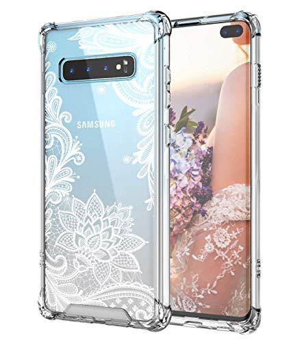 Cutebe Case for Galaxy S10 Plus,Shockproof Series Hard PC+ TPU Bumper Protective Case for Samsung Galaxy S10 Plus 6.4 Inch 2019 Release Crystal