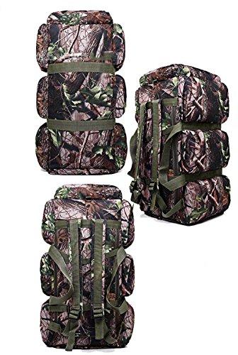 Camping Sac à dos de randonnée 90L de grande qualité résistant à l'eau randonnée Trekking Sac à dos Sac à dos, Camouflage-3