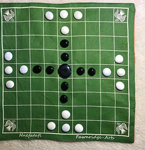 Historic Viking Board Game Hnefatafl printed on Belgium Linen
