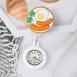 YYMY Reloj de Bosillo para Enfermera Cuarzo,Puede Tirar de la Mesa Colgante telescópica de la Enfermera, Reloj de Bolsillo con luz Nocturna de Cuarzo médico, Blanco 10