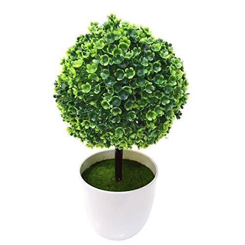 WINOMO Boule cerise artificielle boule de neige Les fleurs en plastique bonsaïs décoratif pour la maison (vert)
