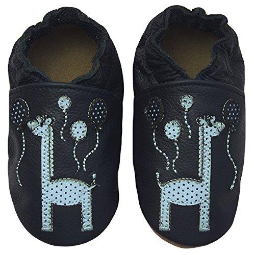 Rose & Chocolat Chaussures Bébé Happy Giraffe Bleu Taille 20/21 cm 6-12 Mois