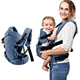 caiyuangg Baby Convertible Carrier, All Carry Position Newborn to Toddlers Ergonomic Carrier with Soft Breathable Air Mesh and All Adjustable Buckles (Black)