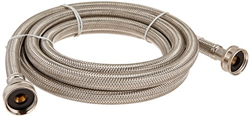 Certified Appliance Accessories Braided Stainless Steel Washing Machine Hose, 8ft
