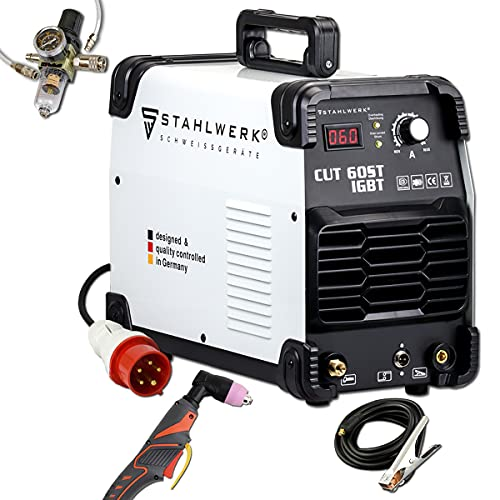 STAHLWERK CUT 60 ST IGBT Plasmaschneider mit 60 Ampere bis 24mm Schneidleistung für Lackierte Bleche und Flugrost geeignet 7 Jahre Herstellergarantie