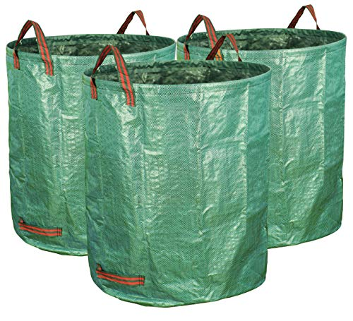Gardzen 3-Pack 72 Gallons Garden Bag - Reuseable Heavy Duty Gardening Bags, Lawn Pool Garden Leaf Waste Bag