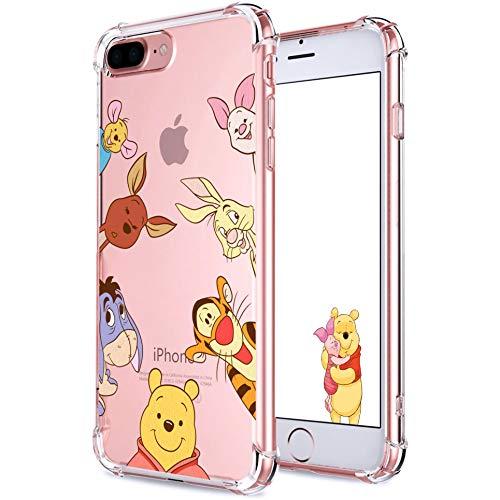 Darnew Bear Family Funda para iPhone 7 Plus/8 Plus, Dibujos Animados Lindo Moda Suave de TPU Diseño de Gracioso Divertido Frio para Niños y Niñas Mujer, Casos para iPhone 7 Plus/8 Plus