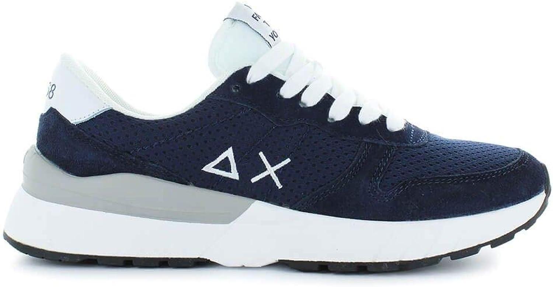 SUN 68 Men's Z1810107 bluee Leather Sneakers
